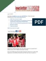 CWA Newsletter, Thursday, July 18, 2013