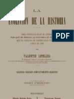 LA EVOLUCIÓN DE LA HISTORIA. VALENTÍN LETELIER