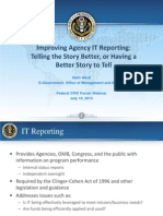 CPIC Forum Webinar - Improved Agency IT Reporting