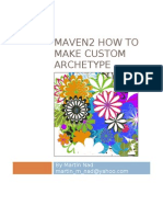 Maven and Custome Archetype