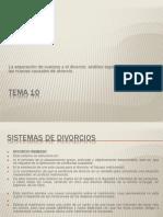 Sistemas de divorcios