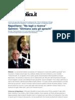 Lettera Degli Studenti a Napolitano
