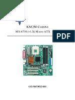MSI KM2M Combo 系列 Micro ATX主機板 使用手冊