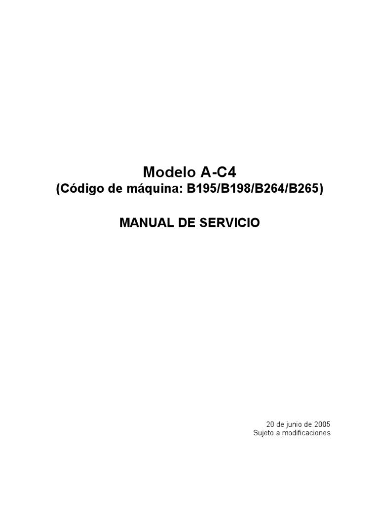 Manual de Servicio Aficio 3035
