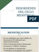 -Desordenes Del Ciclo Menstrual