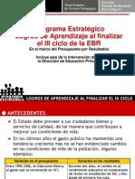 Programa Estrategico Logros de Aprendizaje Junio 2009
