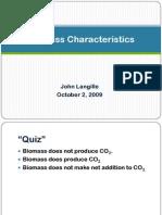 Biomass Characteristics (John)