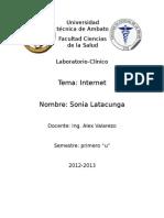 Informe de Internet-sonialatacunga