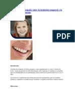 Diferencias principales entre la dentición temporal y la dentición permanente