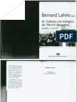 Lahire Bernard - El Trabajo Sociologico de Pierre Bourdieu Deudas y Criticas