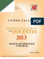 Manual de Ejercicios y Tecnicas 2013