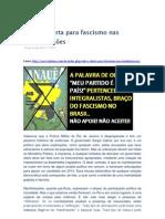 OAB - RJ alerta para o fascismo nas manifestações
