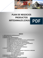 Plan Negocios Productos Artesanales