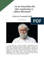 Contra as tramoias da direita - texto de Leonardo Boff