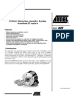 Sensorless Control of 3-Phase Brushless DC Motors (AVR uC)