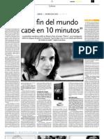 Entrevista en diario Los Andes, Mendoza
