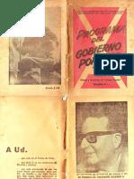 1970. Programa Del Gobierno Popular