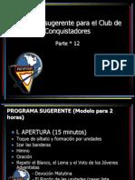 12_Programa Sugerente Para El Club de Conquistadores