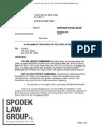 NY Criminal Subpoena Duces Tecum