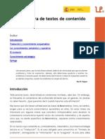 Lectura de Textos de Contenido Matematico