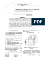 THE TOLERANCE FIELD EFFECT ON THE ANGULAR CONTACT BALL BEARINGS SYSTEMS RATING LIFE