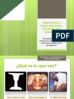 PERCEPCIÓN Y TOMA INDIVIDUAL DIAPO