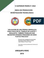 Proyecto de La Prensa Hidraulica