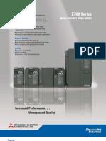 Mitsubishi E700 Variable frequency drive (VFD) _brochure