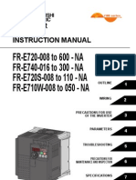 Mitsubishi E700 Variable frequency drive (VFD) Instruction Manual