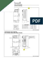 Mitsubishi F700 VFD  Dimensional Drawings