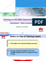 Training on WCDMA Optimization Cases (Assistant Data Analysis)(2)