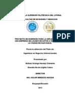 Proyecto de inversión para la implementación de una empresa de lavado de autos a domicilio para la ciudad de guayaquil (2)