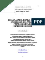 Curso ESPAÑA ANTE EL SISTEMA DE LAS NACIONES PARA LA PROTECCION DE LOS DERECHOS HUAMNOS (1)