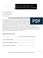 DCOC Police Officer Complaint Form