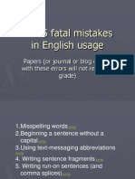 Five Fatal Mistakes in English Usage 11421