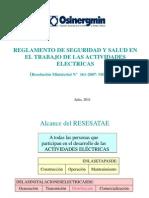 05.Reglamento de Seguridad y Salud en El Trabajo de Las Actividades Electricas RESESATAE - Ing. Miguel Benites