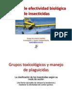 Estudios de Efectividad Biológica de Insecticidas - Dr. Rafael Bujanos