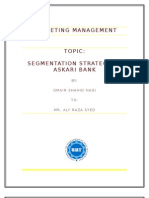 Market Segmentation of Askari Bank