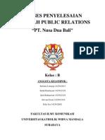 Proses Penyelesaian Masalah Public Relations