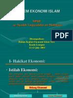 Pengantar Ekonomi Islam (Taqiyuddin an Nabhani)