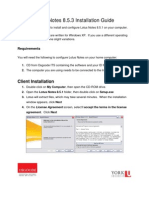Lotus Notes 8 - Installation Guide