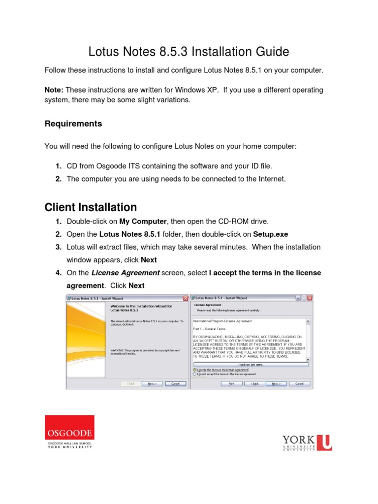 lotus notes 8 installation guide ibm notes installation rh scribd com Lotus Notes Mail Lotus Notes Mail