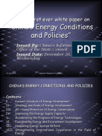 China's white paper on Energy condition and policies