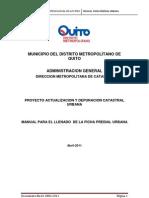 Manual Ficha Predial Urbana