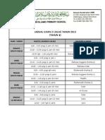 Jadual Ujian 2 (Julai)