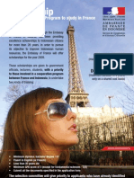 Flyer Beasiswa Pemerintah Perancis