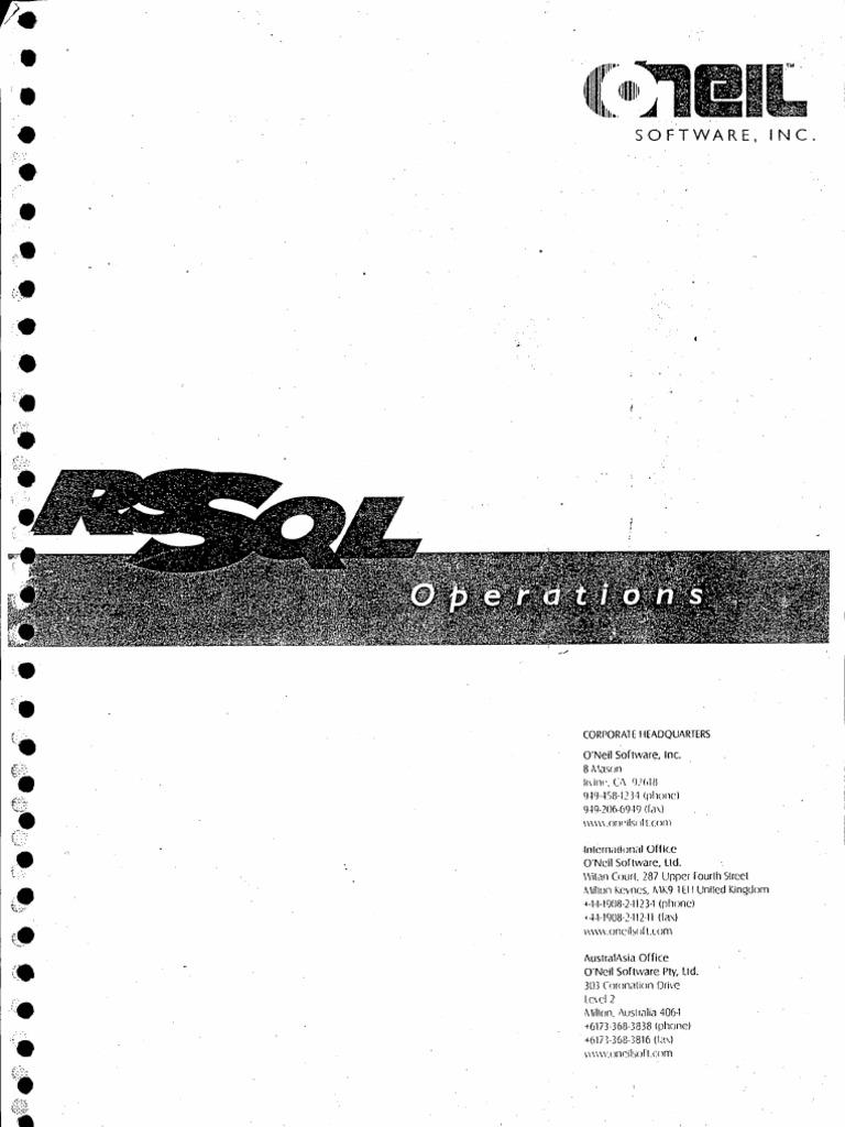 Oniel Training Manual Information Retrieval Barcode