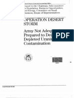 OPERATION DESERT STORM- Army Not Adequately Prepared to Deal With Depleted Uranium Contamination-GAO Report January 1993
