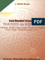 Kami Meyakini Turunnya Imam Mahdi Dan Isa as-drs.abdul Razak