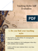 Teaching Styles Self Evaluation